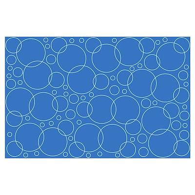 Blue Bubble Scrapbook Background Poster