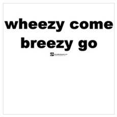 Wheezy come, breezy go Framed Print