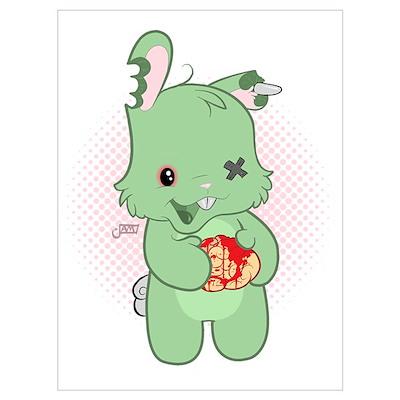Zombie Bunny Poster