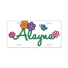 Alayna Flowers Aluminum License Plate