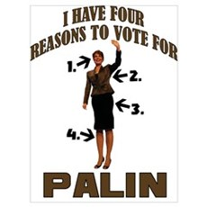 4 Reasons for Palin Poster