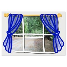 Cartoon Window Framed Print