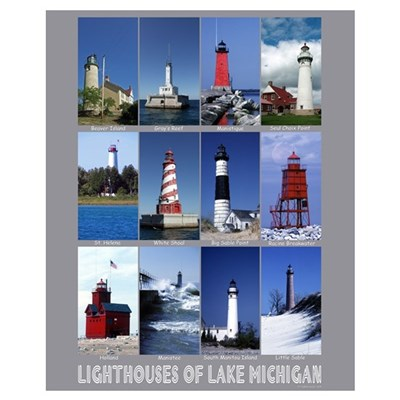 Lake Michigan Lighthouse Canvas Art