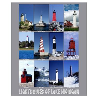 Lake Michigan Lighthouse Poster