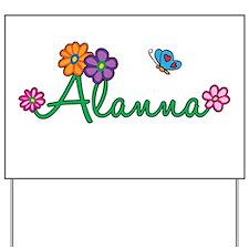 Alanna Flowers Yard Sign