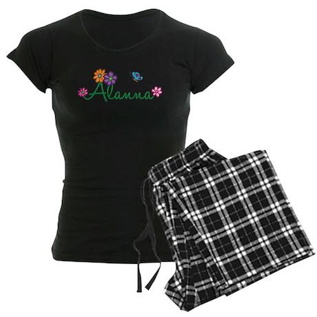 Alanna Flowers Women's Dark Pajamas
