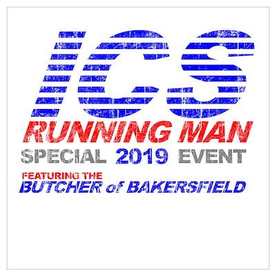 ICS Running Man Retro Poster
