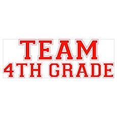 Team 4th Grade Poster