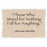 Alexander hamilton quote Framed Prints