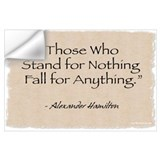 Alexander hamilton quote Wall Decals
