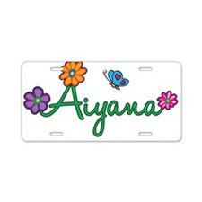 Aiyana Flowers Aluminum License Plate