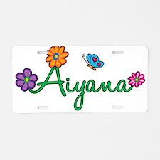 Aiyana Flowers Aluminum License Plate