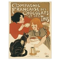 French Chocolate and Tea 1896 Poster