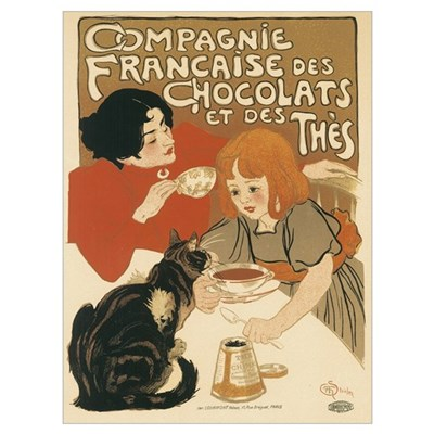 French Chocolate and Tea 1896 Canvas Art