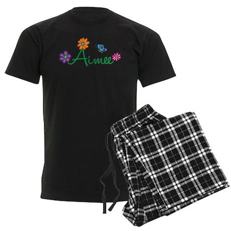 Aimee Flowers Men's Dark Pajamas