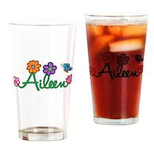Aileen Flowers Drinking Glass