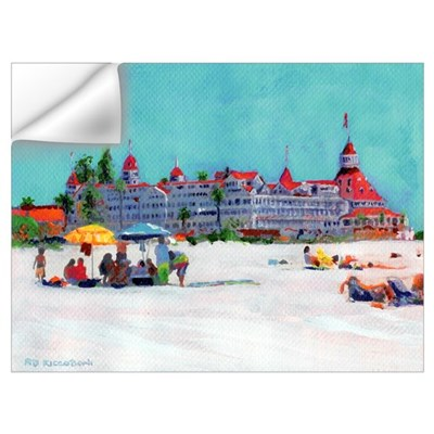 Day at The Beach Coronado CA Wall Decal