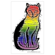 Rainbow Gay Pride Cat Poster