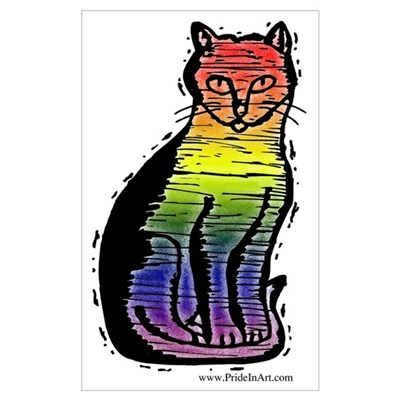 Rainbow Gay Pride Cat Canvas Art