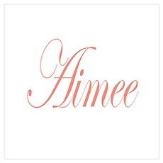 Cursive Aimee Poster