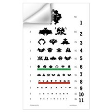 Inkblot Eye-Chart Wall Decal