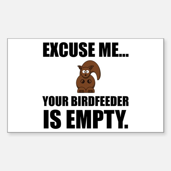 Squirrel Birdfeeder Empty Decal