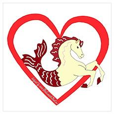 SeaHorse Heart Poster