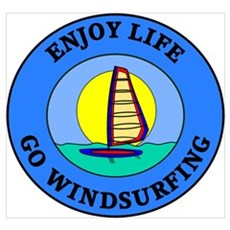 Enjoy Life Go Windsurfing Framed Print