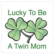 Lucky To Be A Twin Mom Poster