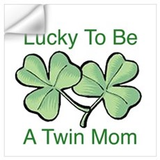 Lucky To Be A Twin Mom Wall Decal