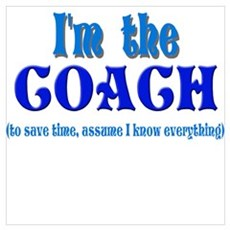 I'm the Coach -Blue Framed Print