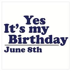 June 8 Birthday Poster