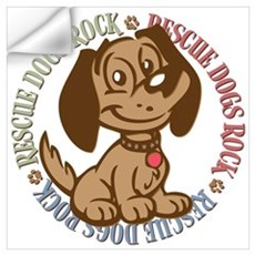 Rescue Dogs Rock 2 Wall Decal