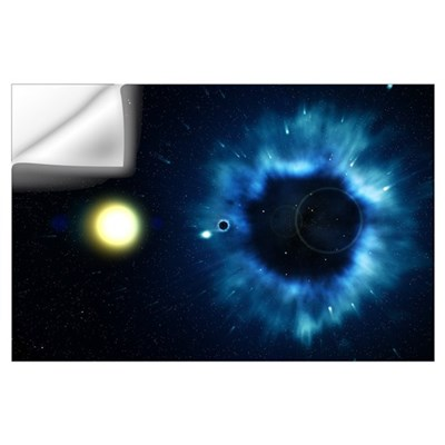 Black Hole & Companion Star Wall Decal