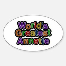 World's Greatest Annette Oval Decal