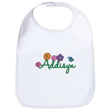 Addisyn Flowers Bib