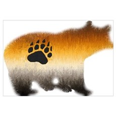 BEAR PRIDE FURRY BEAR 2 Canvas Art