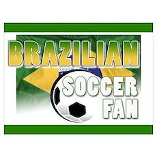 Brazilian Soccer Fan!! Poster