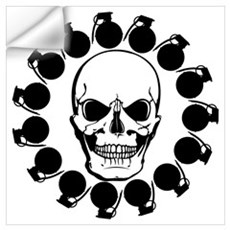 Skull and Frags Wall Decal