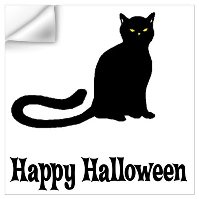 Halloween Cat Wall Decal