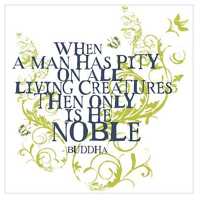 Buddha Vine - Noble Text - Blue Green Poster