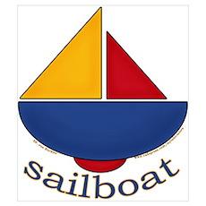 Cute Sailboat Design Poster