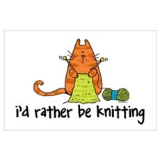 Rather be knitting Poster