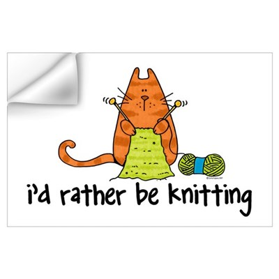 Rather be knitting Wall Decal