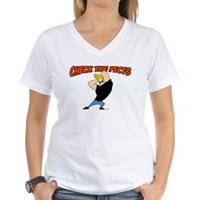 Check The Pecks Women's V-Neck T-Shirt