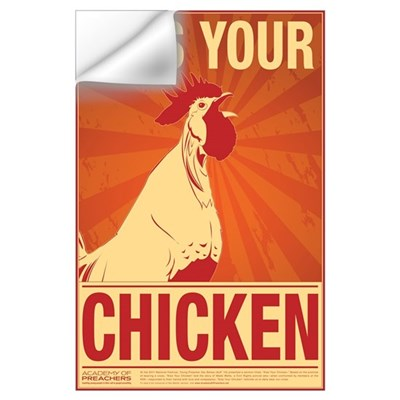 Kiss Your Chicken Wall Decal