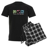 Peace, Love, Beagles Men's Dark Pajamas