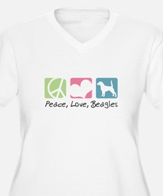 Peace, Love, Beagles T-Shirt