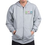 Peace, Love, Beagles Zip Hoodie