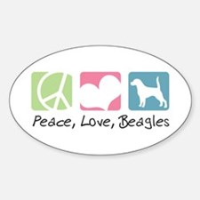 Peace, Love, Beagles Decal
